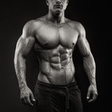 Strong and power bodybuilder Royalty Free Stock Images