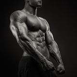 Strong and power bodybuilder posing royalty free stock images