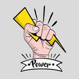 Strong power hand protest revolution. Vector illustration stock illustration
