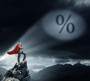 Strong and powerful as super hero Stock Images