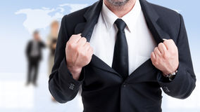 Strong and powerful business man concept Stock Photography