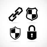 Strong protection security icon. Strong protection security vector icons set Stock Photos