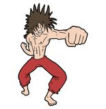 Strong punch Royalty Free Stock Images