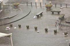 Strong Rain, power of rain Royalty Free Stock Image