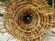 The strong rebar for construction. stock photography
