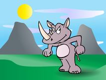 Strong rhinoceros Stock Image