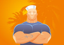 Strong sailor man Stock Photo