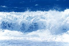 Strong Sea Wave. Strong clean water Sea Wave Stock Photo