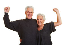 Strong senior citizens team Royalty Free Stock Photos