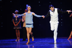 A strong sense of rhythm tap dance-Retro dance-the Austria's world Dance Stock Photos