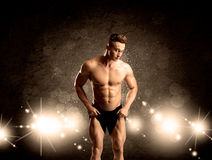 Strong sexy male working out Royalty Free Stock Photo