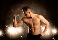 Strong sexy male working out Royalty Free Stock Photography