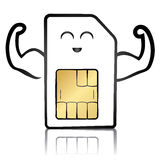 A strong sim card Royalty Free Stock Photo