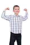 The strong smiling boy Royalty Free Stock Photo
