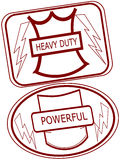 Strong solid rubber stamps Royalty Free Stock Images