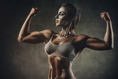 Strong sports woman Royalty Free Stock Images