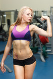 Strong girl biceps Stock Photo