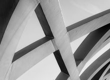 Strong steel beams welded together at sharp angles Stock Photography