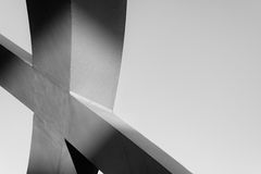 Strong steel beams welded together at sharp angles Royalty Free Stock Photo