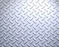 Strong Steel diamond plate Royalty Free Stock Image