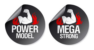 Strong stickers. stock illustration