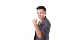 Strong, successful winner man posing Stock Photography