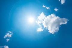 Strong sun and skies Royalty Free Stock Images