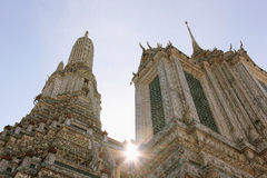 Strong sunlight at The Temple of Dawn Wat Arun in Bangkok Thaila Stock Photo