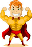 Strong super hero Royalty Free Stock Images