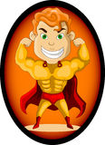 Strong super hero Royalty Free Stock Image