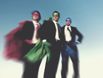 Strong Superhero Business Aspirations Confidence Success Concept royalty free stock photos