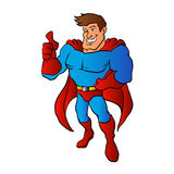 Strong Superhero flying Royalty Free Stock Images