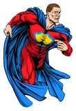 Strong superhero Stock Image