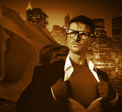 Strong Superhero Professional Leadership Business Victory Concep. T royalty free stock photo