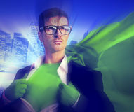 Strong Superhero Professional Leadership Business Victory Concep. T royalty free stock photography