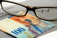 Strong swiss franc royalty free stock photo