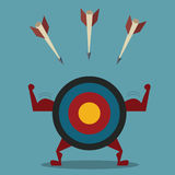 Strong target and arrow business concept Royalty Free Stock Photo