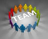 Strong team Royalty Free Stock Images