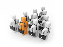 Strong team with different person Royalty Free Stock Image