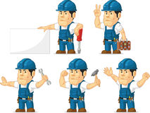Strong Technician Mascot Royalty Free Stock Photo