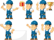 Strong Technician Mascot 10 Royalty Free Stock Photography