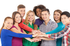 We are strong when we together. stock photo