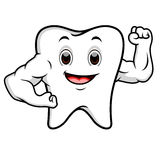 Strong tooth cartoon Stock Photos