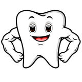 Strong tooth cartoon Royalty Free Stock Photos