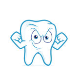 Strong tooth flexing his arm Royalty Free Stock Image