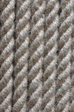 Strong twisted hemp rope Royalty Free Stock Images