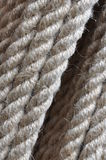 Strong twisted hemp rope Stock Photography