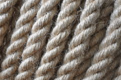 Strong twisted hemp rope Stock Photo