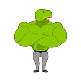 Strong Tyrannosaurus with big muscles. Dinosaur t-Rex bodybuilde Stock Photography