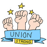 Strong union fists Stock Image